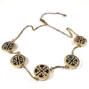 Gold and Black Geometric Necklace